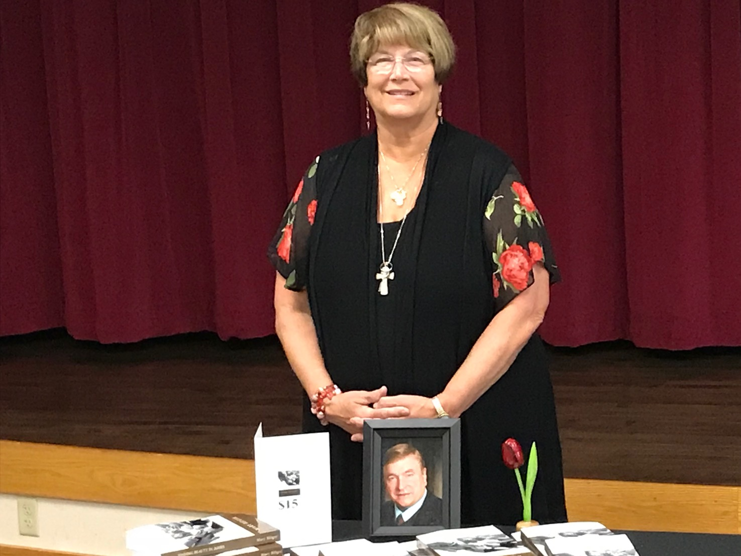 Mary Hilger at Book Signing for Finding Beauty in the Ashes